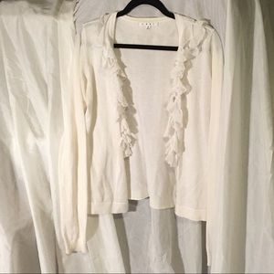 Cabi cardigan size small with lace
